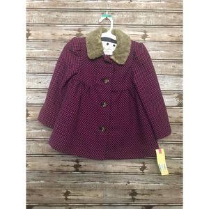 Cherokee 4T Coat Faux Fur Collar NWT Purple Dressy